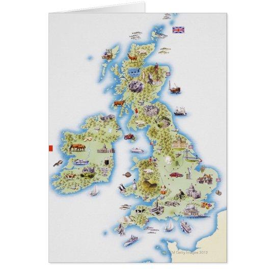 Karte der britischen Inseln