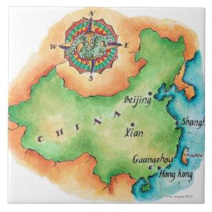 Karte der China Fliese