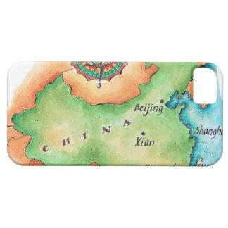 Karte der China iPhone 5 Hülle