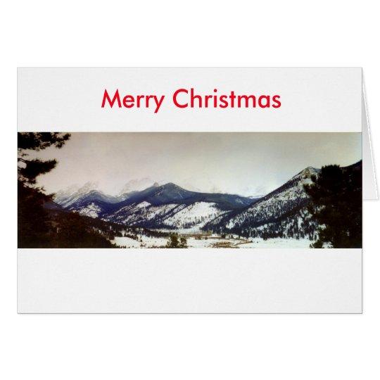 Karte der Colorado Rockies-frohen Weihnachten
