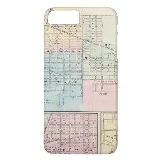 Karte der Ebene, des Urbanas, des Mattoon und des iPhone 8 Plus/7 Plus Hülle