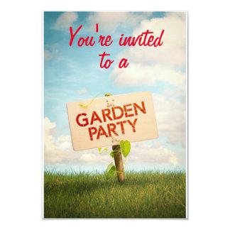 Karte der Einladung zu Garden Party