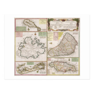 Karte der englischen Kolonien in den Karibischen
