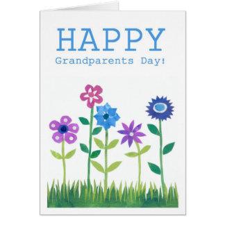 Karte der Großeltern Tages- Blumen-Power