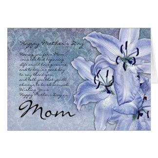 Karte der Mamma-Mutter Tages- modern - Lilien