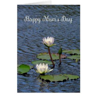Karte der Mutter Tagesfür Mama, Sahnewasser-Lilien