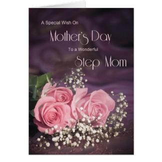 Karte der Mutter Tagesfür Schrittmamma mit rosa