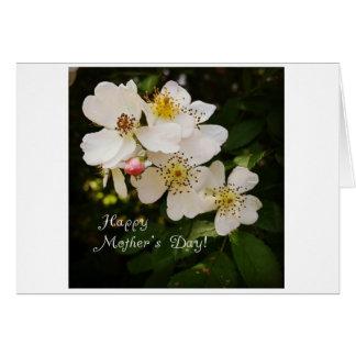 Karte der Mutter Tagesmit BlumenFoto