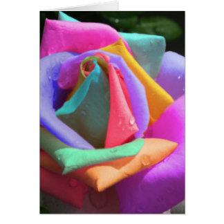 Karte der Regenbogen-Rosen-Mutter Tages