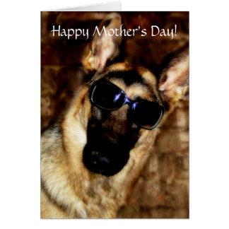 Karte der Spaß-Schäferhund-Mutter Tages