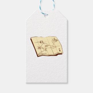 Karte der Spur mit X markiert den Geschenkanhänger