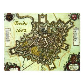 Karte der Stadt von Breda, ab 1652