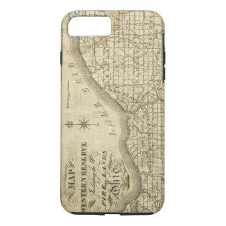 Karte der Western-Reserve iPhone 8 Plus/7 Plus Hülle