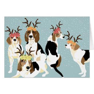 Karte des Baum-Wanderercoonhound-Feiertags-(freier