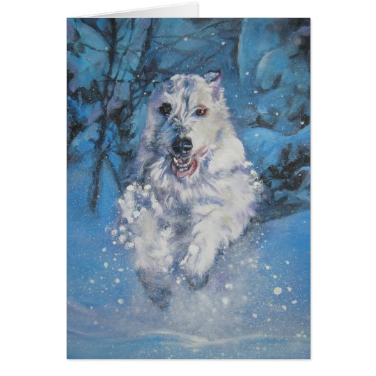 Karte des irischen Wolfhound Weihnachts