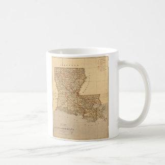 Karte des Staat von Louisiana (1876) Kaffeetasse