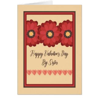 Karte des Valentines Tages, große Schwester mit