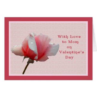 Karte des Valentines Tagesfür Mamma-Rosa-Rose