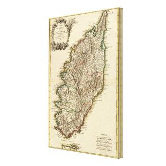 Karte Frankreichs Boundries Gespannte Galeriedrucke
