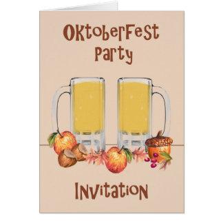Karte für eine Oktoberfest Party Einladung