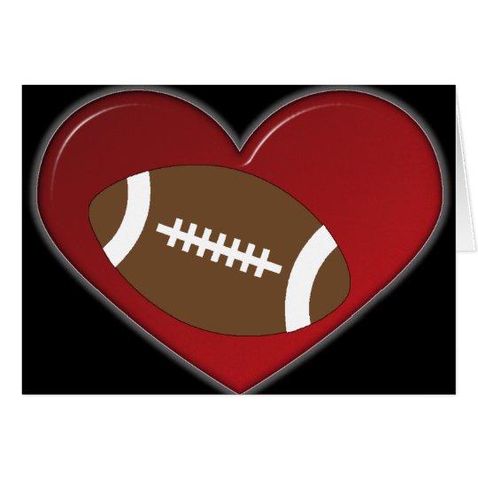Karte - Herz-Fußball