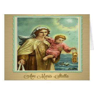 Karte Jungfrau-Marys das Karmel Maris Stella