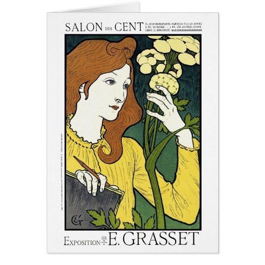 Karte: Kunst Nouveau: Grasset Salon-DES-Cent Grußkarte