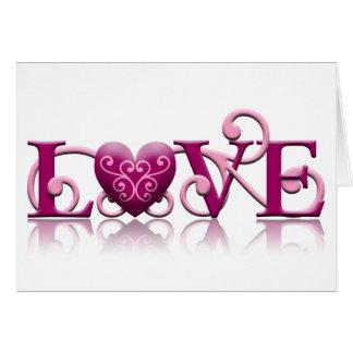 Karte LIEBE Valentines Tages