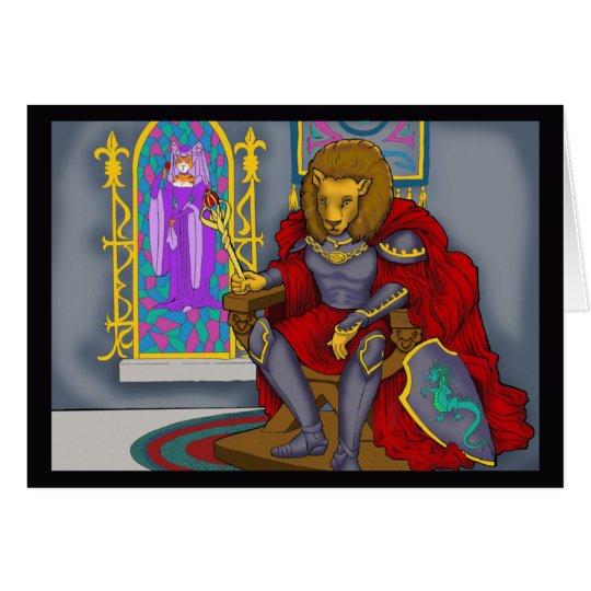 Karte Löwe-König-Gruß