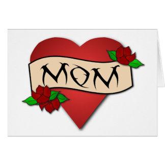 Karte Mammaherztätowierung Mutter Tages