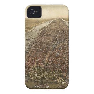 Karte Manhattans 1873 Kamerad-Fall Case-Mate iPhone 4 Hülle