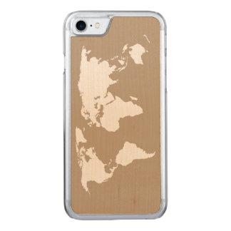 Karte meiner Welt - Carved iPhone 8/7 Hülle