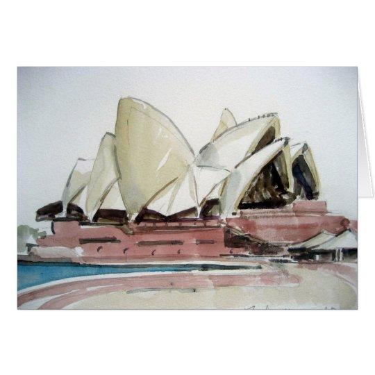 Karte mit Sydney-Opern-Haus-Wasserfarbe