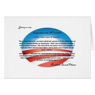 Karte Obama-44. Präsidenten-Anmerkung