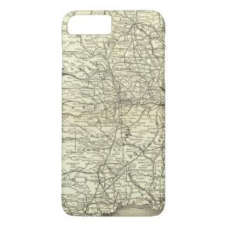 Karte Ohio und Mississippi-Eisenbahn iPhone 8 Plus/7 Plus Hülle