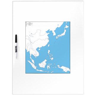 Karte Ostasiens Whiteboard
