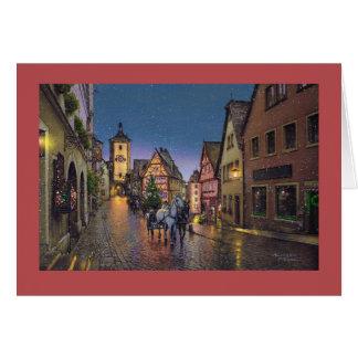 """Karte Pauls McGehee """"Weihnachten in Rothenburg"""""""