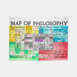 Karte Philosophie-der kleinen Fleece-Decke Fleecedecke