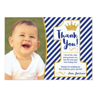 Karte Prinz-First Birthday Thank You 12,7 X 17,8 Cm Einladungskarte