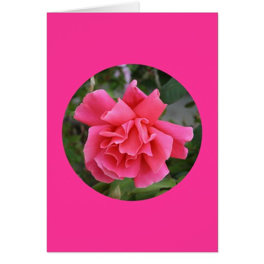 """Karte, """"rosa Rose im Kreis"""" I-1 Karte"""