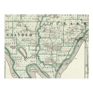 Karte von Alexander- u. Pulaski-Landkreisen
