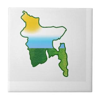 Karte von Bangladesch Keramikfliese