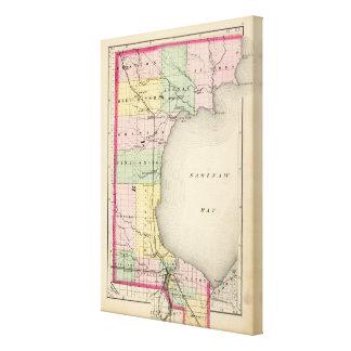 Karte von Bay County, Michigan Leinwanddruck
