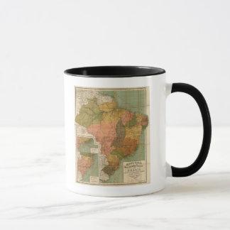 Karte von Brasilien Tasse