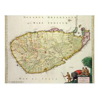 Karte von Ceylon entsprechend Nicolas Visscher