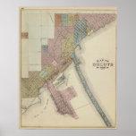 Karte von Duluth, St. Louis County, Minnesota Poster