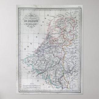 Karte von Holland 1835 - Malte-Brun Poster