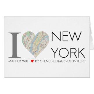Karte von I love New York. Landkarte OpenStreetMap