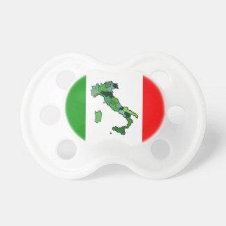 Karte von Italien und von italienischer Flagge Baby Schnuller