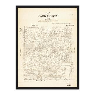 Karte von Jack County, Texas (1879) Leinwanddruck